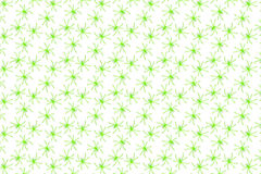 Halloween - Green Spiders - Background Pattern Stock Photography