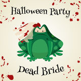 Halloween green toads fashion costume outfits. Cartoon style vector illustration isolated  Royalty Free Stock Photo