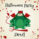 Halloween green toads fashion costume outfits. Cartoon style vector illustration isolated on white background Royalty Free Stock Photo