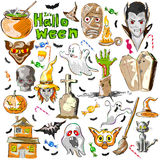 Halloween greeting background decoration. Vector design of Halloween greeting background decoration Stock Image
