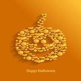 Halloween greeting background with pumpkin Royalty Free Stock Images