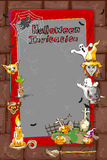 Halloween greeting background. Vector design of Halloween celebration greeting background Royalty Free Stock Image