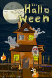 Halloween greeting background. Vector design of Halloween celebration greeting background Royalty Free Stock Photography