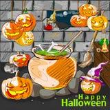 Halloween greeting background Stock Photos