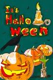 Halloween greeting background Stock Image
