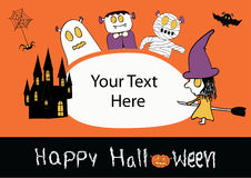 Halloween greeting card royalty free illustration