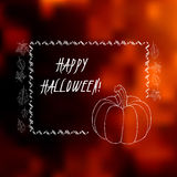 Halloween greeting card with blurred background. Elegant Halloween greeting card with blurred background, hand drawn elements and place for your text. Great for Stock Photography