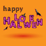 Halloween greeting card with candy violet type Stock Image