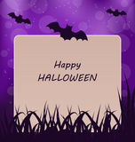 Halloween Greeting Card, Dark Background Stock Photos