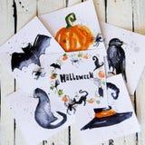 Halloween greeting card Stock Image