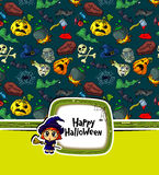 Halloween greeting Royalty Free Stock Images