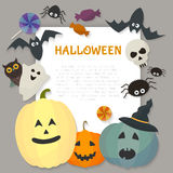 Halloween greeting card. Flat design. Vector illustration Royalty Free Stock Photography
