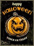 Halloween greeting card with halloween pumpkin Royalty Free Stock Photography