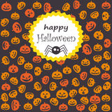 Halloween greeting card Stock Images