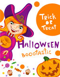 Halloween greeting card Royalty Free Stock Images