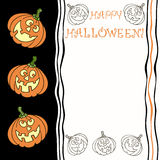 Halloween greeting card with  place for text Royalty Free Stock Photos