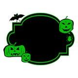 Halloween greeting card with pumpkin. Stock Photos