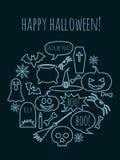 Halloween greeting card Royalty Free Stock Image