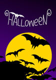 Halloween greeting card Stock Image