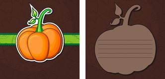 Halloween greeting cards. Image of pumpkin stock illustration