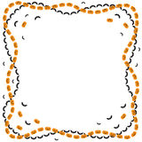 Halloween greeting frame Stock Photos