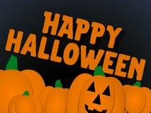 Halloween greeting illlustration stock photo