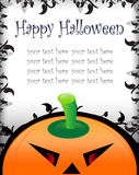Halloween greeting/invitation card Royalty Free Stock Photography