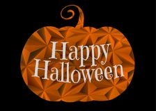 Halloween pumpkin with greeting text illustration royalty free stock photo