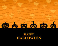 Halloween greeting pumpkins card Royalty Free Stock Photography
