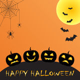 Halloween greeting Stock Image