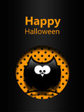 Halloween greetings card with black owl Royalty Free Stock Photos