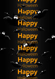 Halloween greetings card with flying bats Royalty Free Stock Photo