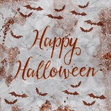 Halloween Greetings - Copper and Marble textured wallpaper Stock Photos
