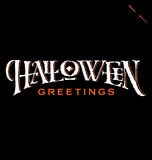 'Halloween Greetings' hand lettering (vector) Royalty Free Stock Photography