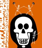 Halloween greetings. Skulll Background Royalty Free Stock Images