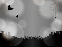 Halloween grey graveyard background Stock Photo