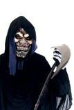 Halloween, Grim Reaper. Halloween, fun and creepy, grim reaper on white background Stock Photo