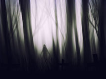 Halloween Grim Reaper silhouettes abstract background. Royalty Free Stock Image