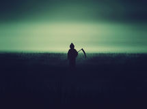 Halloween Grim Reaper silhouettes Royalty Free Stock Photos