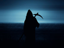 Halloween Grim Reaper silhouettes Royalty Free Stock Photography