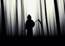 Halloween Grim Reaper silhouettes Royalty Free Stock Image