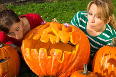 Halloween grimace Stock Image