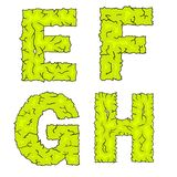 Halloween grimy letters efgh Stock Photo