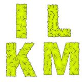 Halloween grimy letters ilkm Royalty Free Stock Images