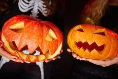 Halloween grins Stock Images
