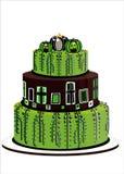 Halloween-groene cake Stock Afbeelding
