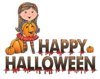 Halloween-groet Royalty-vrije Stock Afbeelding