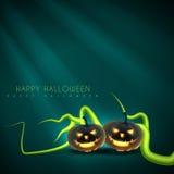 Halloween-groetontwerp Royalty-vrije Stock Foto