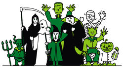 Halloween group Stock Image