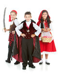 Halloween: Group of Trick or Treaters Royalty Free Stock Image